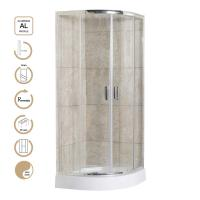 Buy cheap 5mm Glass Sliding Door Shower Enclosures with Chrome Profile and Shower Tray product