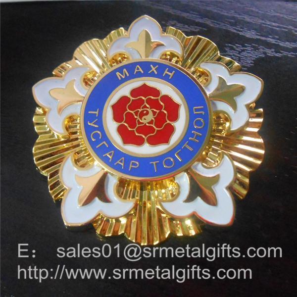 gold enamel lapel pins