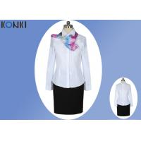 China Long Sleeve Shirt Professional Office Uniforms With Single Breasted on sale