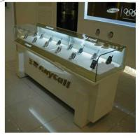 Buy cheap LED Light Wood Display Cabinets , Handphone Glass Display Cabinet product