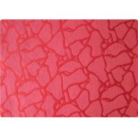 Buy cheap International 100 Polyester Elastane Fabric , Red Jacquard Fabric Cloth product