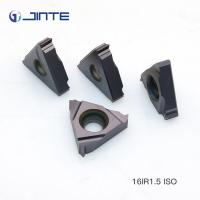 Buy cheap Machining Steel Cast Iron Carbide Threading Inserts 16ER 1.5ISO High Toughness product
