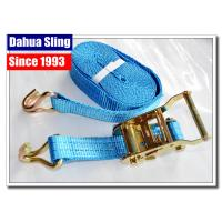Buy cheap Blue E Track Ratchet Tie Down Straps For Trucks 35mm Webbing Acid Resistance product