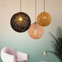 Buy cheap Nordic Global Cottan Pendant Hanging Lights For Bar Restaurant Dining room Table Pendant lamp (WH-WP-12) product