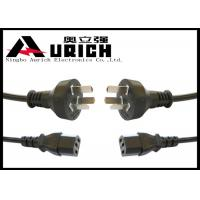 Buy cheap Right Angled Argentina Power Cord 3 Pin Plug To IEC C13 IRAM And UL Certification product