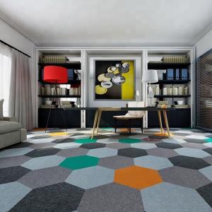 Buy cheap wholesale luxury hotel hallway hexagon green nylon modular carpet tile product