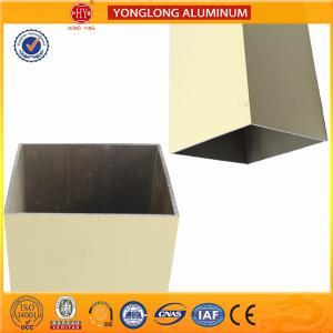 Buy cheap Rectangle Powder Coated Aluminium Extrusions / 6063 6063A Aluminum Window Frame Profile product