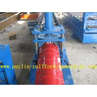 Buy cheap Glazed Metal Roof Ridge Cap Roll Forming Machine For Cinema Cap Half round Ridge Cap product