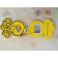 Buy cheap Personalized Yellow Octopus Swing Tags Glossy Varnishing Finished 2 Side product