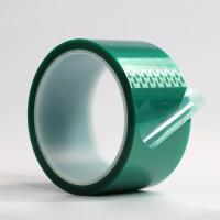 Buy cheap High Temperature PET Green Masking Adhesive Tape for PCB Solder Plating product