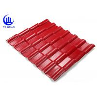 Buy cheap Asa Coated Synthetic Resin Roof Tile 150 Kgs Load Capacity Guangzhou Red Plastic Roofing Sheets product
