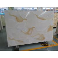Buy cheap White Quartz Solid Stone Countertops / Solid Surface Kitchen Countertops product