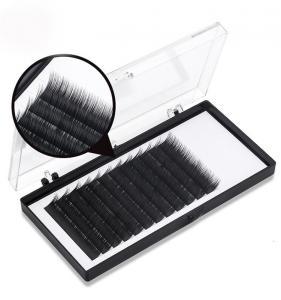 Buy cheap Glossy Black Individual Permanent Eyelashes Silk And Mink Eyelash Extensions product