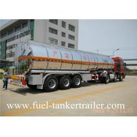 China Tri Axles 45tons stainless steel fuel tank trailer oil transportation truck wholesale