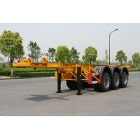 China 40ft Carbon-steel Skeletal Container Trailer Chassis (Rear 3 FUWA axles) on sale