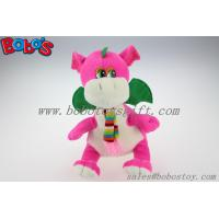 "Quality China Manufacturer Pink Stuffed Dinosaur Animal With Scarf In 10"" Size for sale"