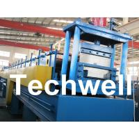 Buy cheap 18 Forming Stations Top Hat Purlin Roll Forming Machine With Manual / Hydraulic Uncoiler product