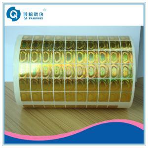 Buy cheap PET etiquetas impermeáveis da folha do holograma, folhas da etiqueta do vácuo da garantia do ouro product
