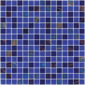 Buy cheap 紙やすりで磨く青20mmガラスのモザイクはプールの建物のためのパターンを混ぜます product