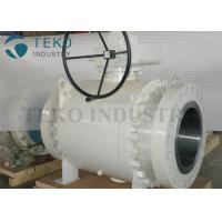 Buy cheap Worm Gear Operated Flanged Ball Valve  /  Trunnion Mounted Three Piece Ball Valve 150~2500Lb product