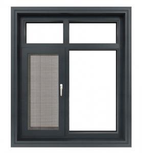 Buy cheap Powder Coated Aluminium Flush Casement Windows With Magenetic Flyscreen product