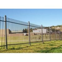 Buy cheap Free Standing Metal Palisade Fencing Decorated For Buildings / Courtyard 100x55mm Post product