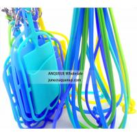 Buy cheap ANQUEUE NEW OEM silicone credit card holder wallet /smart phone card wallet with lanyard product