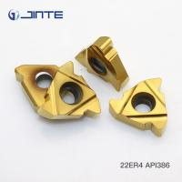 Buy cheap Perfect Cutting Edge Carbide Threading Inserts For Oil Pipe Machining 22ER 4 API386 product
