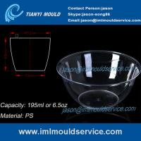 Buy cheap 200ml thin wall PS disposable plastic ice cream bowls injection mould with lids product