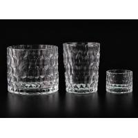 Buy cheap Dimpled Cylindrical Clear set of 3 glass candle holders for Candle Making product
