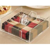 Quality Popular Shape Acrylic Napkin Holder For Hotel Display for sale