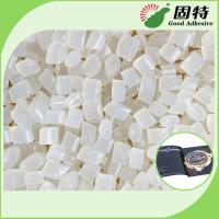 Buy cheap EVA and Viscosity resin Light  Granule Coated Paper Hot EVA Hot Melt Adhesive For Bookbinding Yellowish Color product