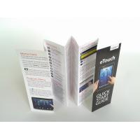 Quality Small Folded Leaflet Printing For Electronics, Promotional C2s Paper 7 Folds User Manual for sale