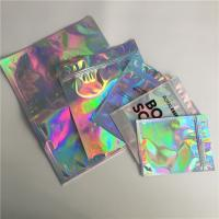 Buy cheap Self Adhesive Foil Pouch Packaging Metallic Label Sticker Holographic Iridescent Bag For Edible Glitter / Shimmer product