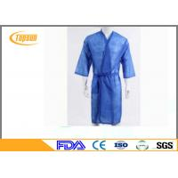 Buy cheap Soft Relaxable Disposable Sauna Gown / Hotel Dress Disposable Bath Robes product