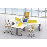 Buy cheap B shape 3 person  staff use office desk workstation 120 degree distribute product