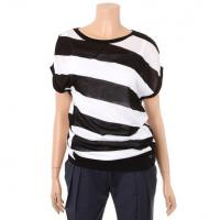Buy cheap Round Neck Short Sleeve Pullover Sweater , Buttons Closure Womens Pullover Jumper product