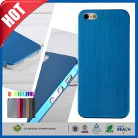 Buy cheap Blue Ultra Thin Brush Shockproof Non Slip Cell Phone Carrying Case for Iphone 5 5s product