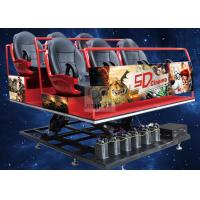 Buy cheap Hydraulic Amusement Park 5D Cinema Theatre 6 / 9 / 12 Seats With Virtual Reality Controller from wholesalers