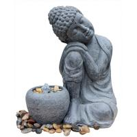 Buy cheap Hand Holding Face To Have A Rest Buddha Water Fountain For Garden And Home product