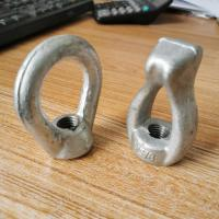 Buy cheap galvanized steel forged electric line hardwares eye bolts eye bolt from wholesalers