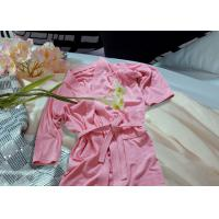 Buy cheap Embroidered Pattern Luxury Bath Robes For Hotel / Home Jacquard Cotton Fabric product