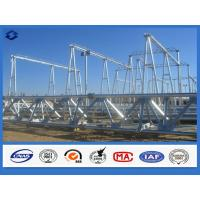 Buy cheap Hot Dip Galvanized Electricity Transmission Substation Structure Steel Pole product