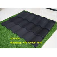 Buy cheap Villa Stone Coated Steel Roof Tiles 0.42Mm In Thickness Wine Red Bond product