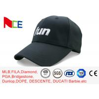 Buy cheap FUN 6 Panels Mens Sports Hats , Relaxed Black Cool Sports Fitted Caps product