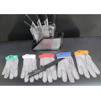 Buy cheap Stainless Kitchen Cut Resistant Gloves / Hand Protection Gloves Nylon Belt Design product