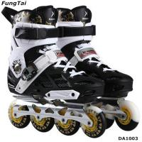 Buy cheap Men Women Roller Inline Skate Shoes Freestyle Street Slalon Patins Leisure Blade Shoes Popular White Color (DA1003) product