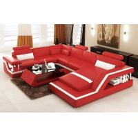 red color PU leather living room furniture modern sofa FA036
