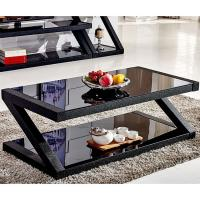 Buy cheap Black Glass Coffee Table Excellent Load - Bearing Capacity For Hotel product