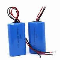 Buy cheap Rechargeable Batteries, 3.7V Voltage, Used for Portable Medical Devices, Measuring 40 x 71 x 20mm product